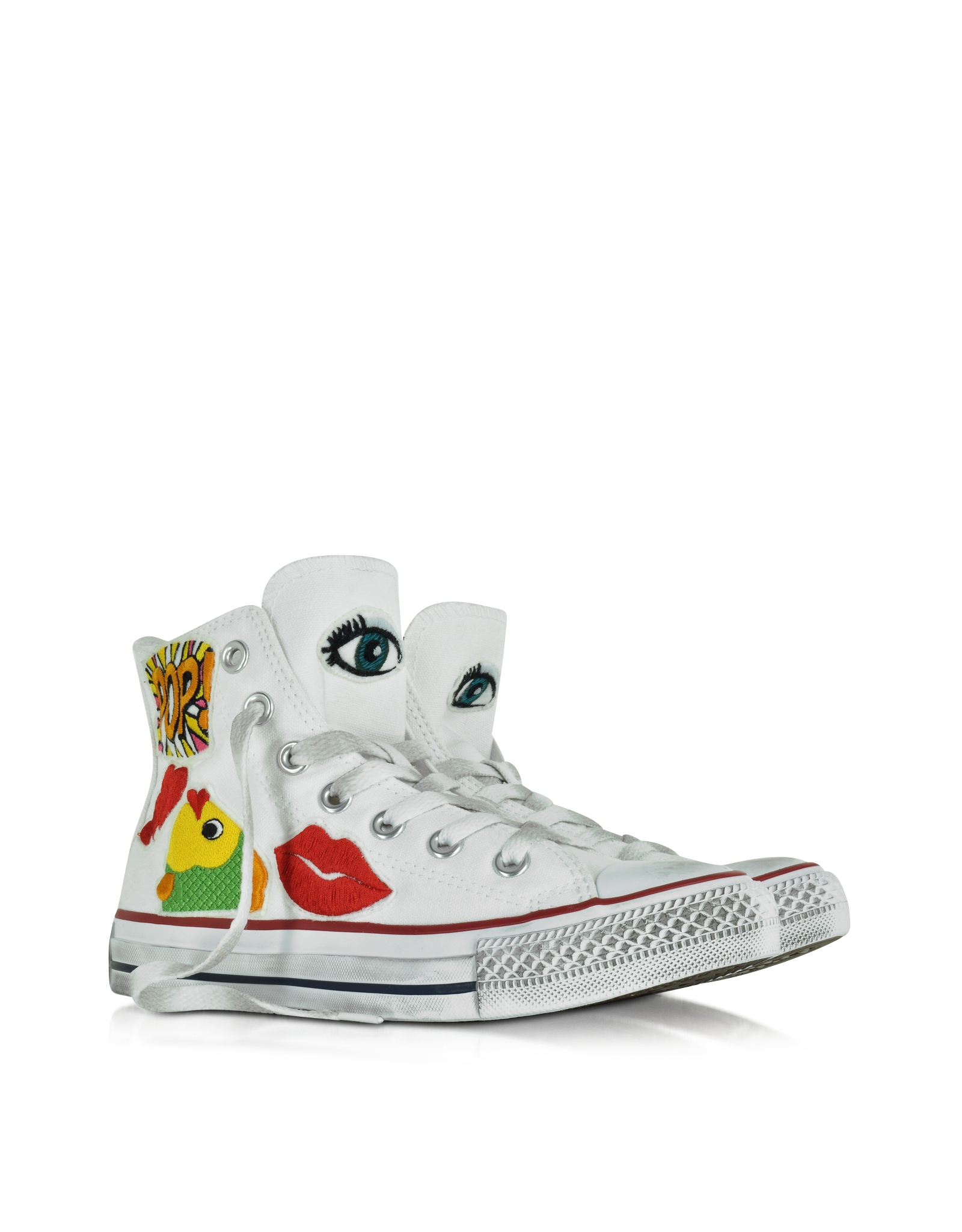 converse all hi white canvas ltd pop s sneaker