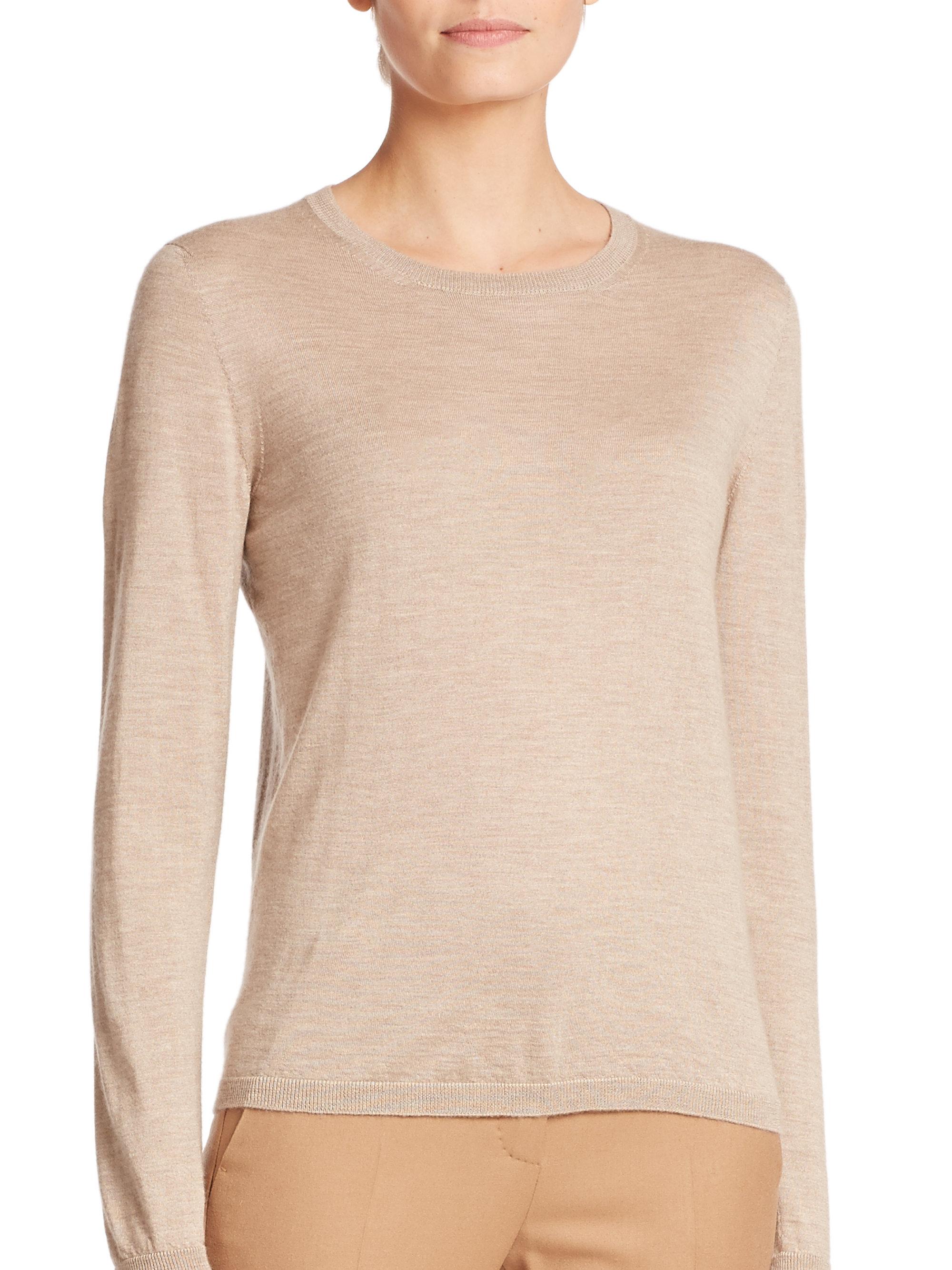 Max mara Palmi Silk-cashmere Sweater in Brown | Lyst