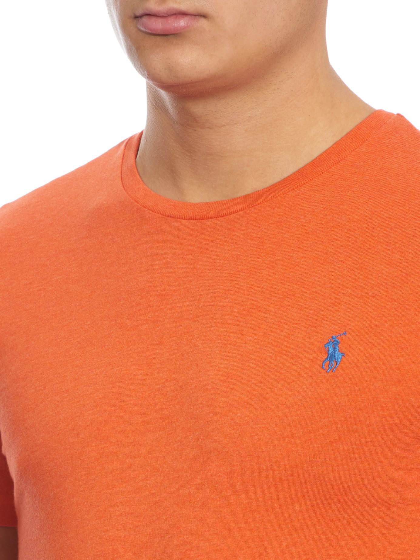 Polo Ralph Lauren Crew Neck T Shirt In Orange For Men Lyst