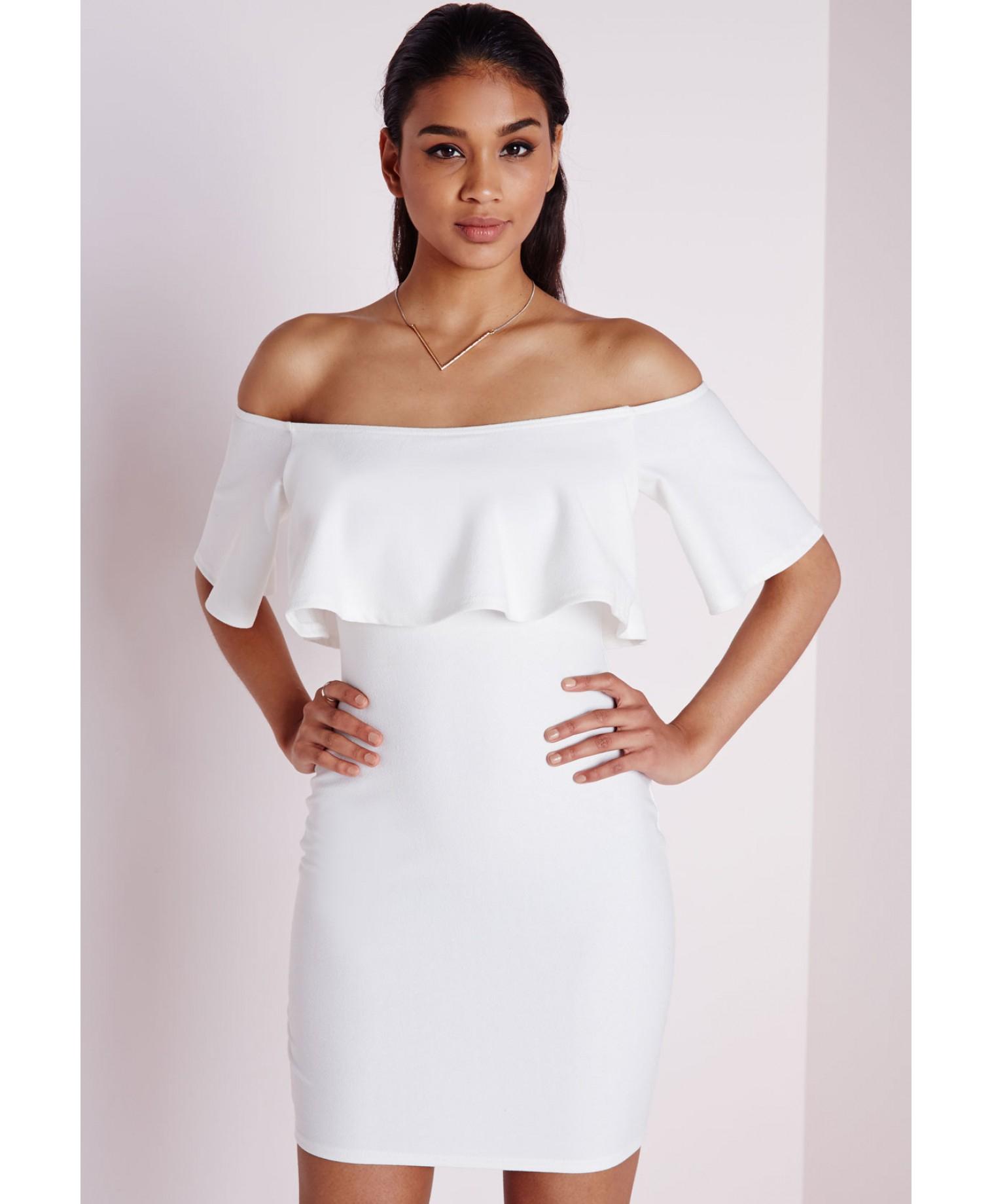 White Ruffle Dresses