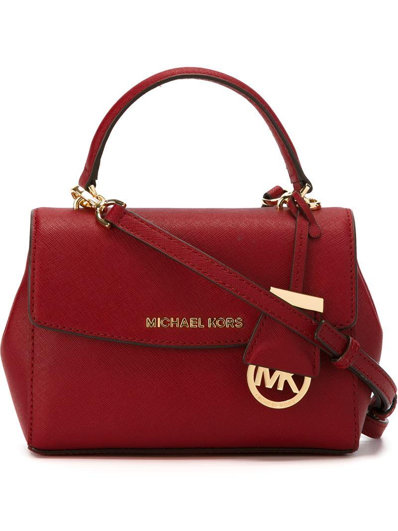e84a8119e03b MICHAEL Michael Kors 'ava' Medium Cross Body Bag in Red - Lyst