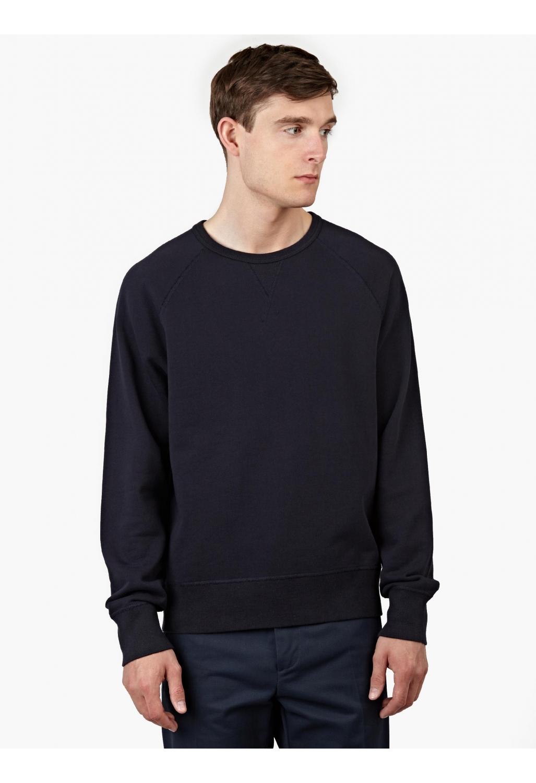 Acne Men's Navy College Sweatshirt in Black for Men | Lyst