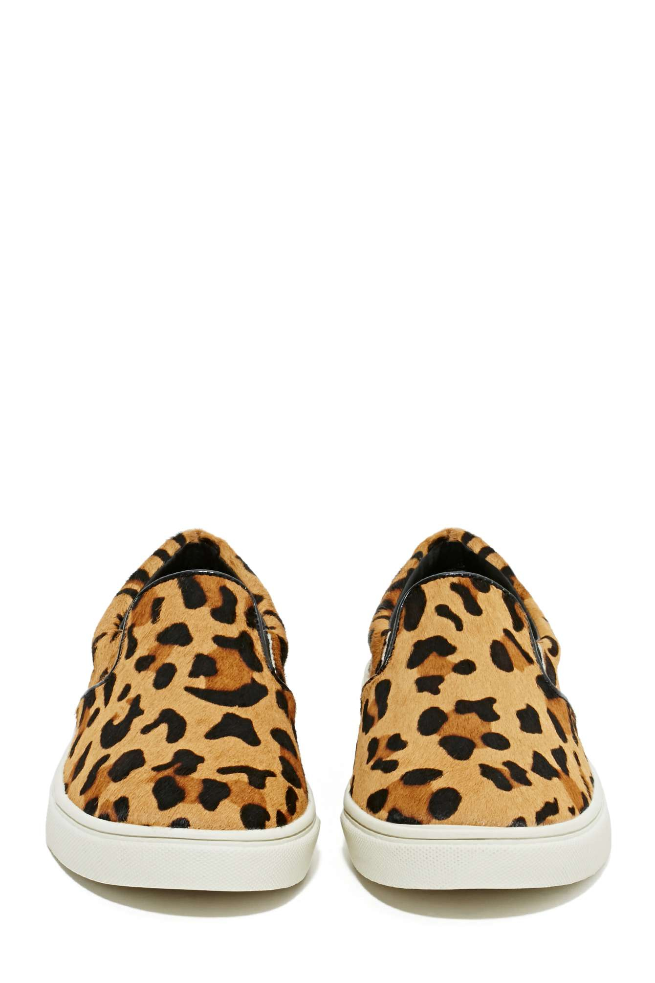 nasty gal steve madden eccentric pony hair sneaker leopard lyst. Black Bedroom Furniture Sets. Home Design Ideas