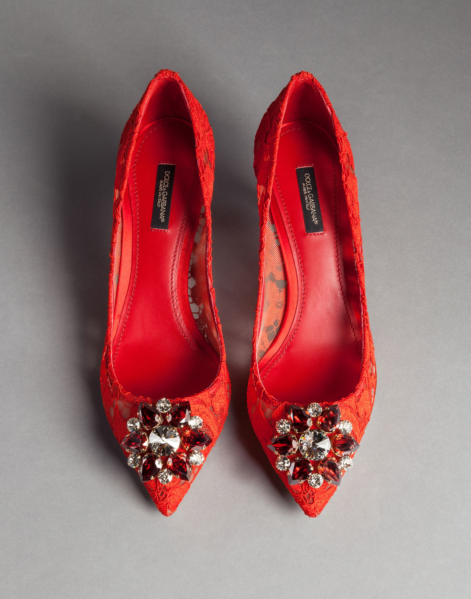 Dolce And Gabbana Embellished Lace Shoes