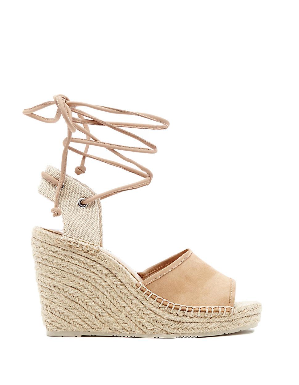dolce vita espadrille platform wedge sandals in