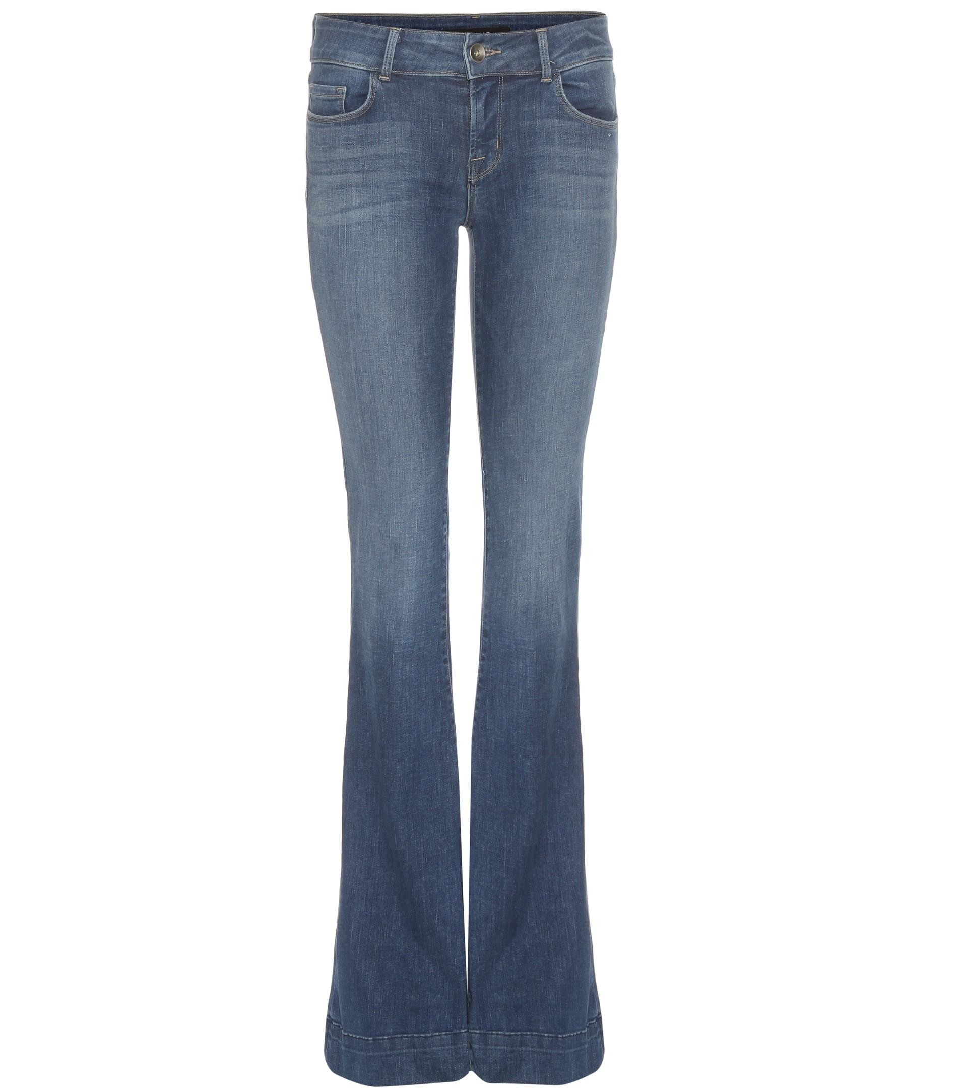 j brand the lovestory flared jeans in blue lyst. Black Bedroom Furniture Sets. Home Design Ideas