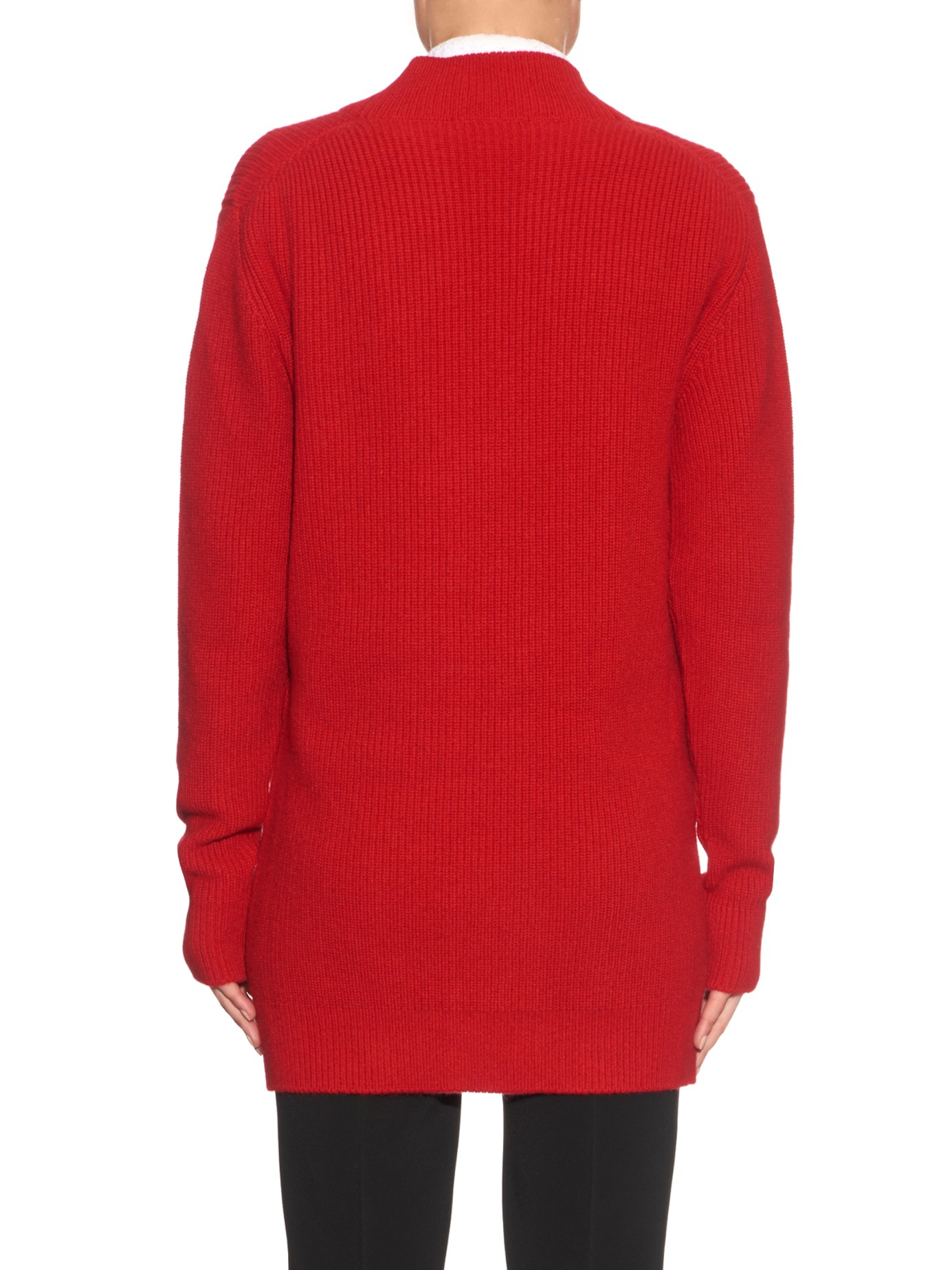 Lyst - Dolce & Gabbana Long-sleeved Cashmere-knit Cardigan ...