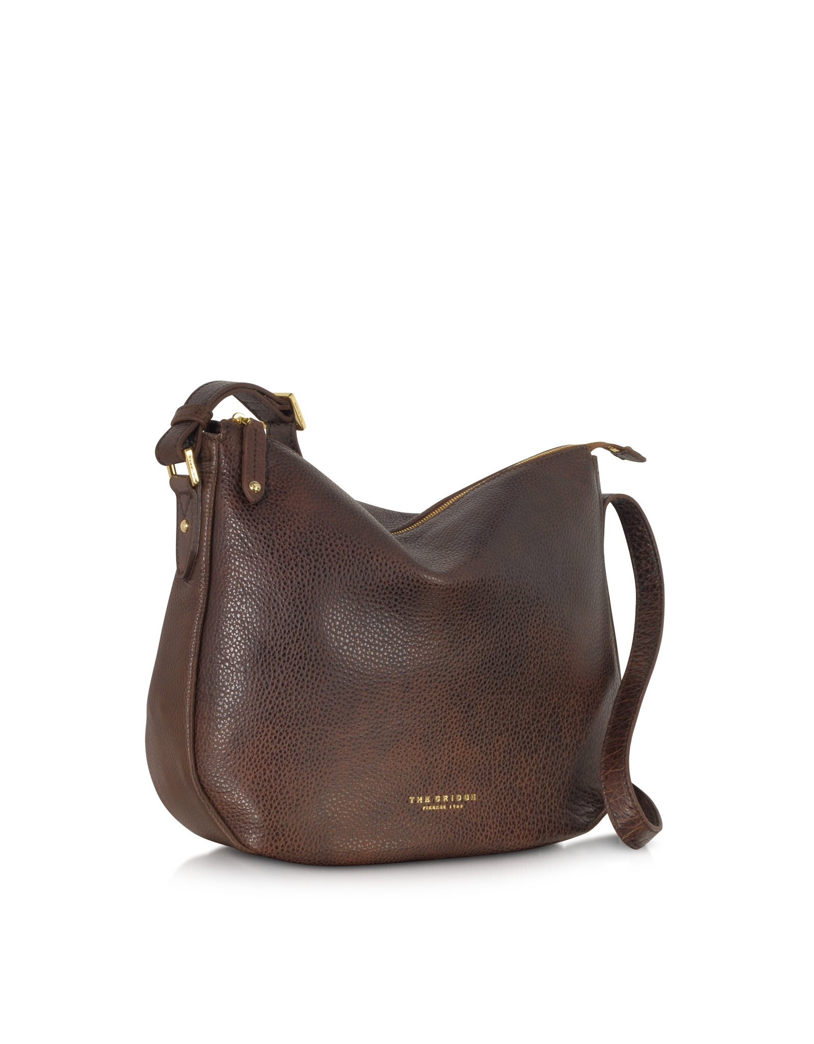 The bridge Sfoderata Soft Dark Brown Leather Shoulder Bag in Brown ...