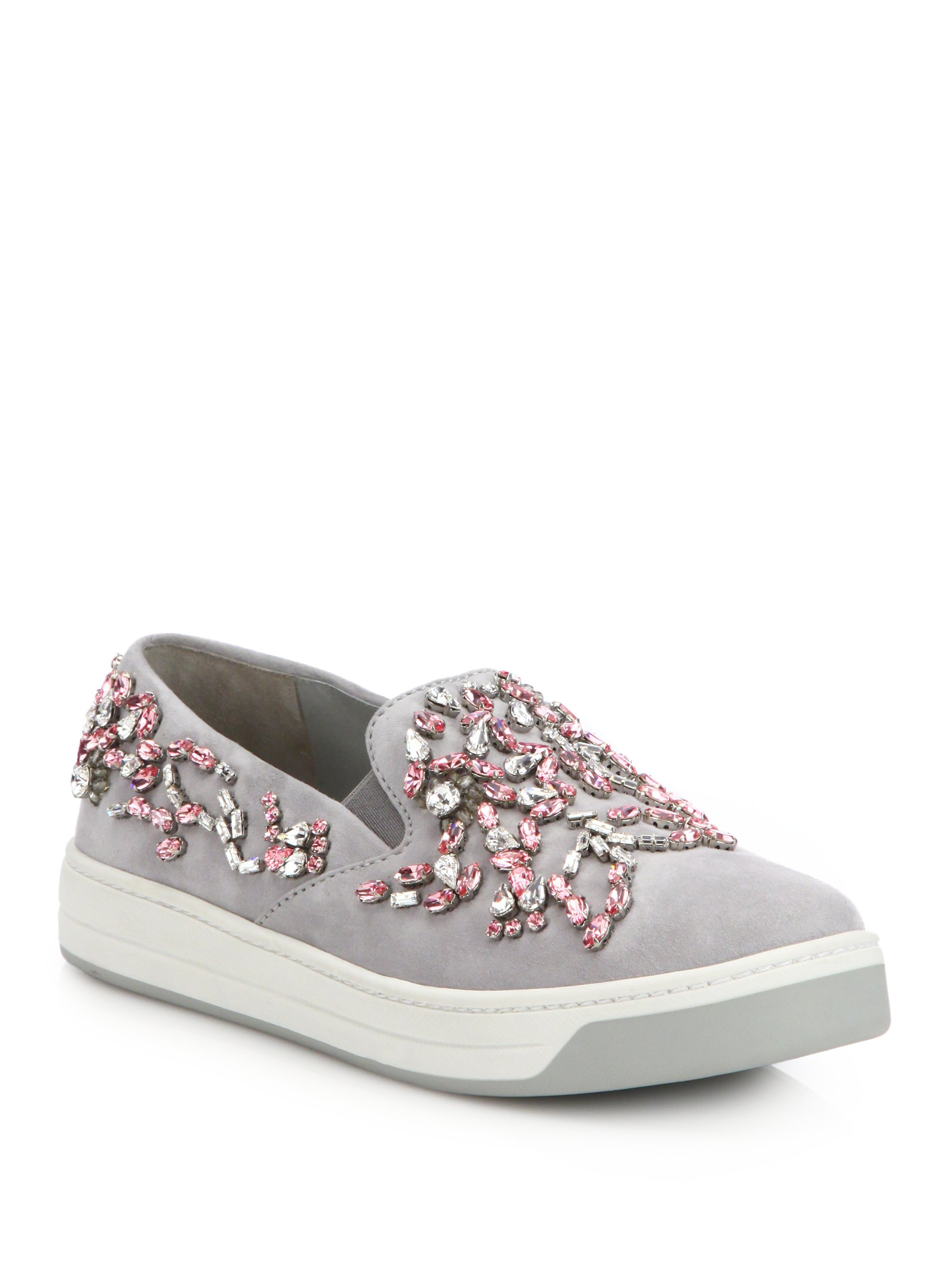 Grey Suede Womens Shoes