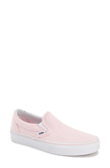 Lyst - Vans  classic  Slip-on Sneaker in Pink 320ccd1cc