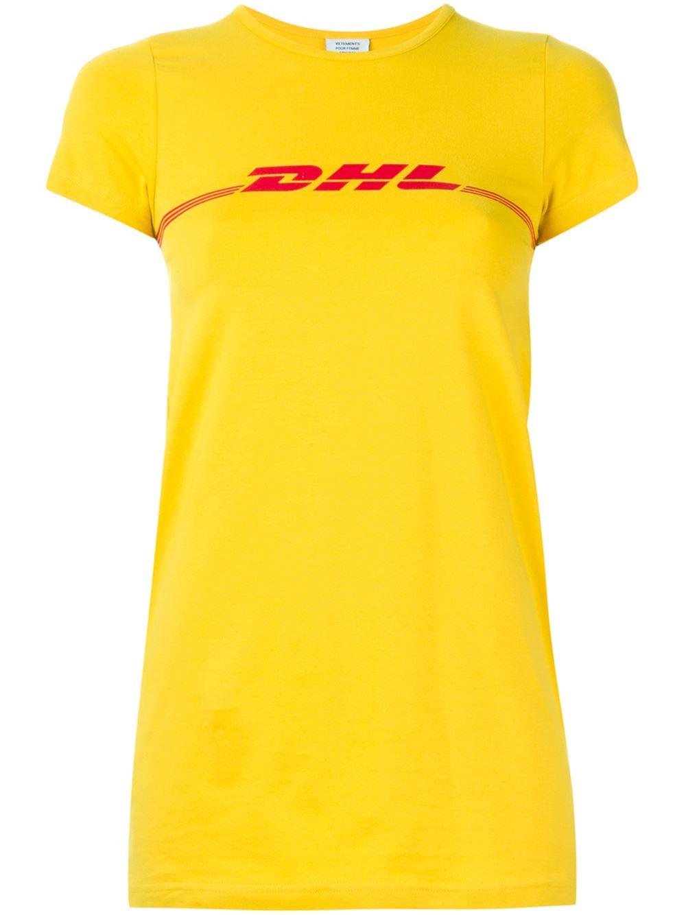 Vetements Yellow T Shirt In Yellow For Men Lyst