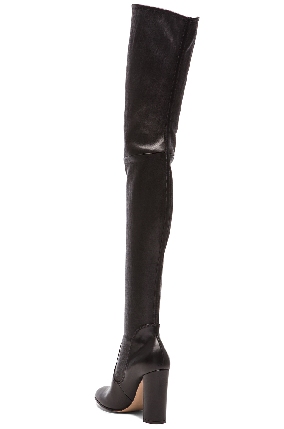 Lyst - Gianvito Rossi Leather Thigh High Boots In Black-6962