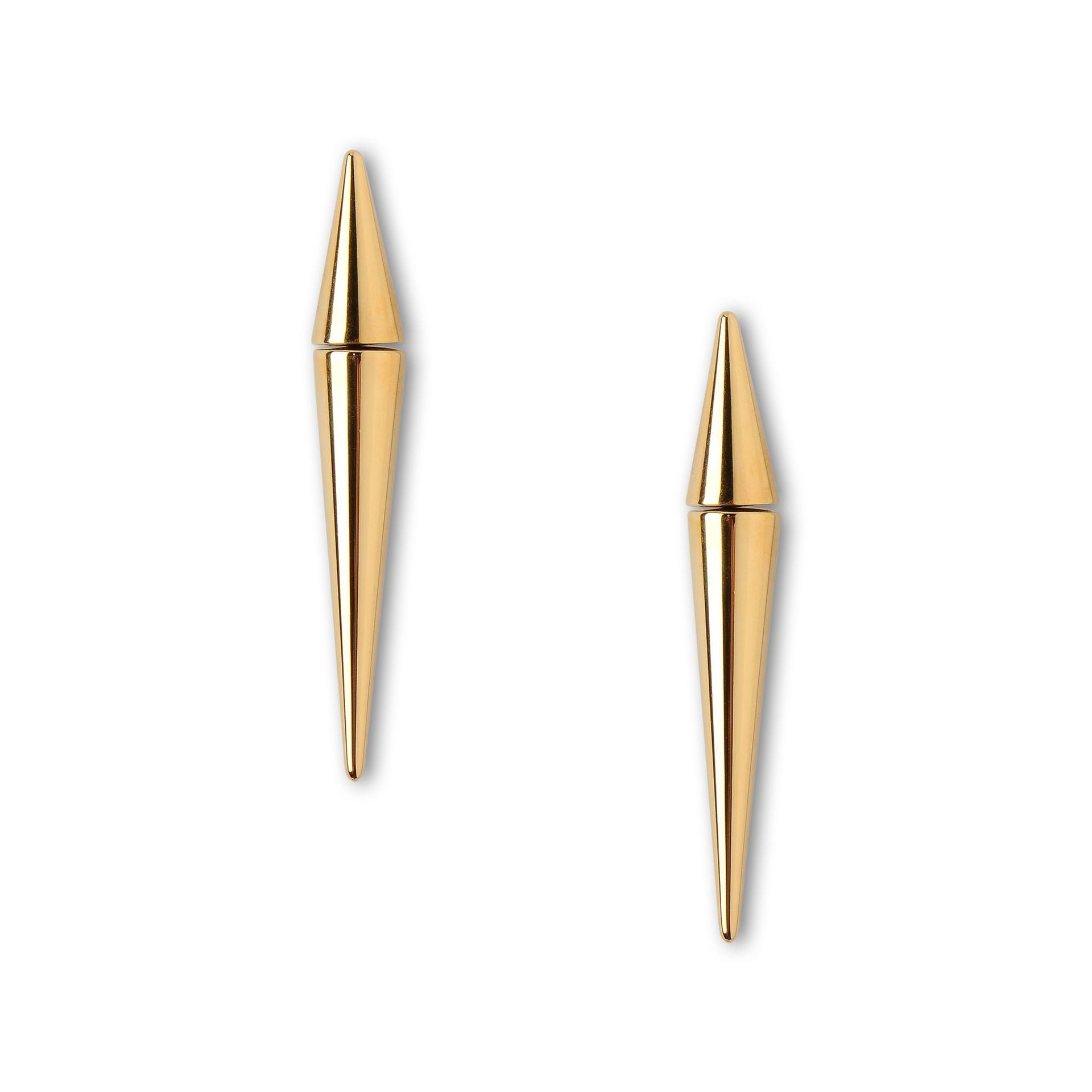 Stella mccartney Spike Earring in Metallic