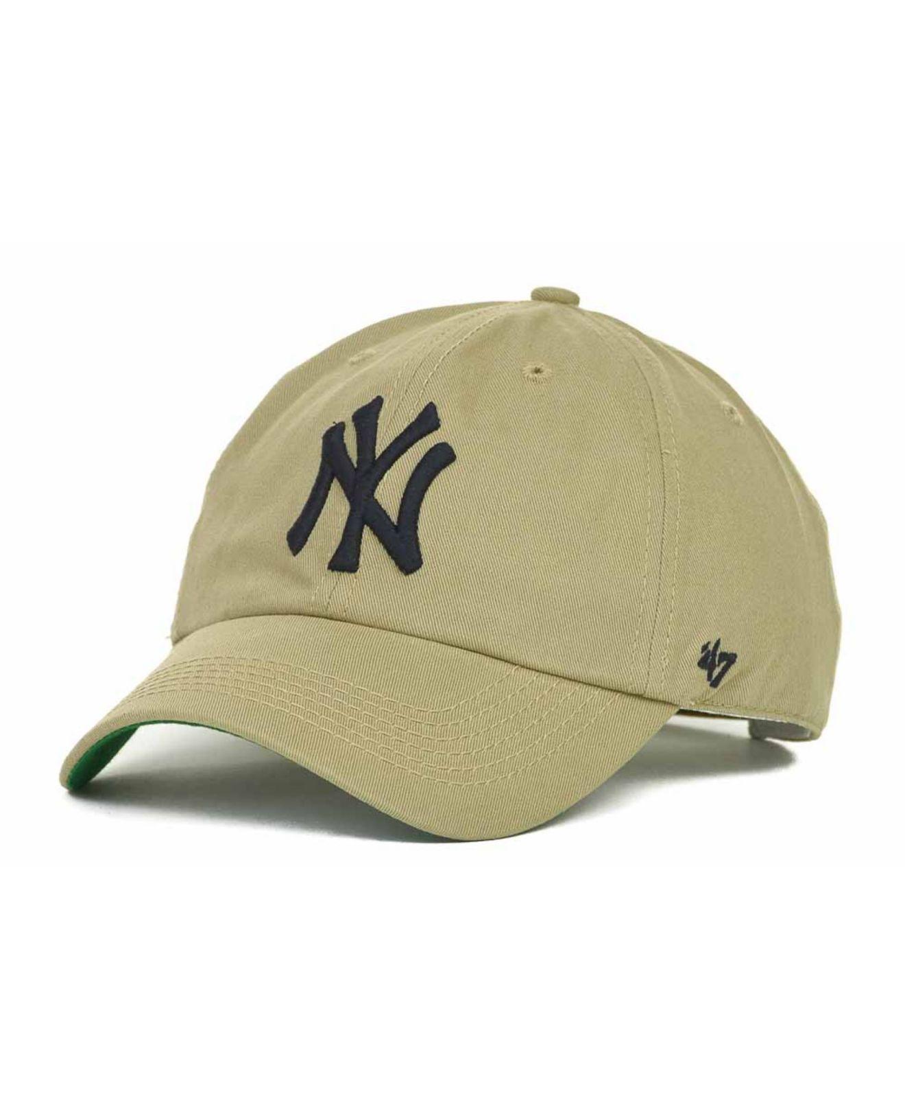 Lyst - 47 Brand New York Yankees Bergen Ii Cap in Natural for Men a705899586c