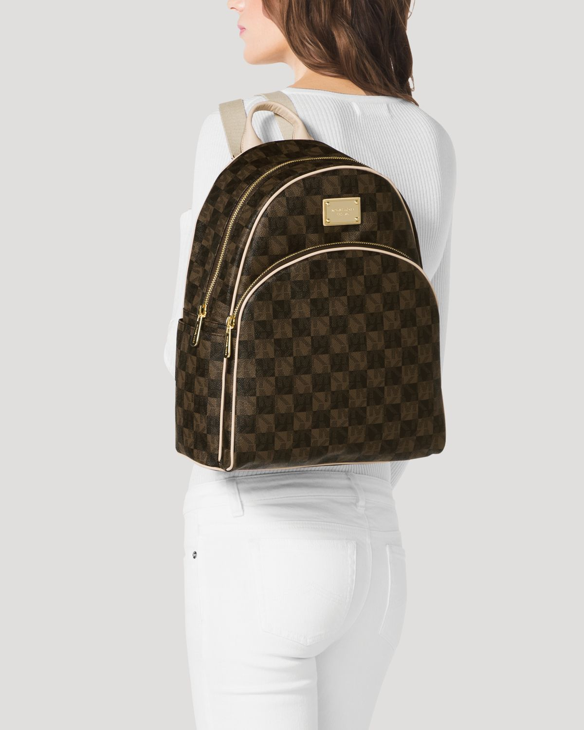 0bdbc87c7c5845 MICHAEL Michael Kors Backpack Jet Set Item Checkerboard Logo in ...