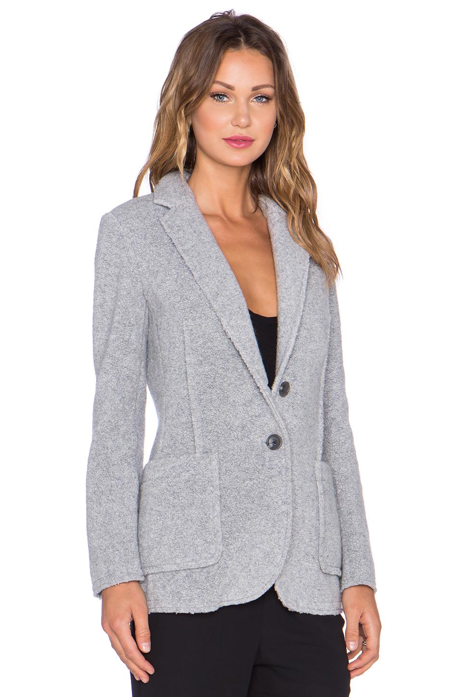 Lyst Atm Wool Shearling Knit Blazer In Gray