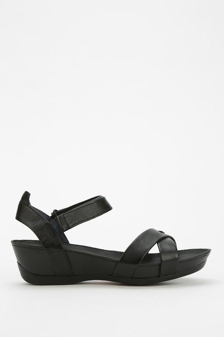Camper Micro Quarterstrap Wedge Sandal In Black Lyst