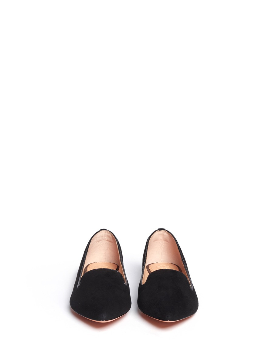 5fa17bb1be0 Lyst - Tory Burch  Connely  Suede Smoking Slippers in Black