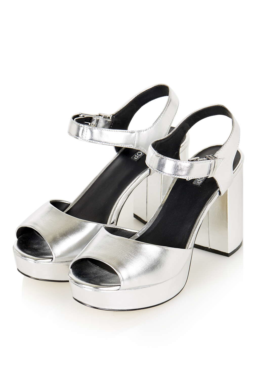 Topshop Limbo Chunky Platform Sandals In Metallic Lyst