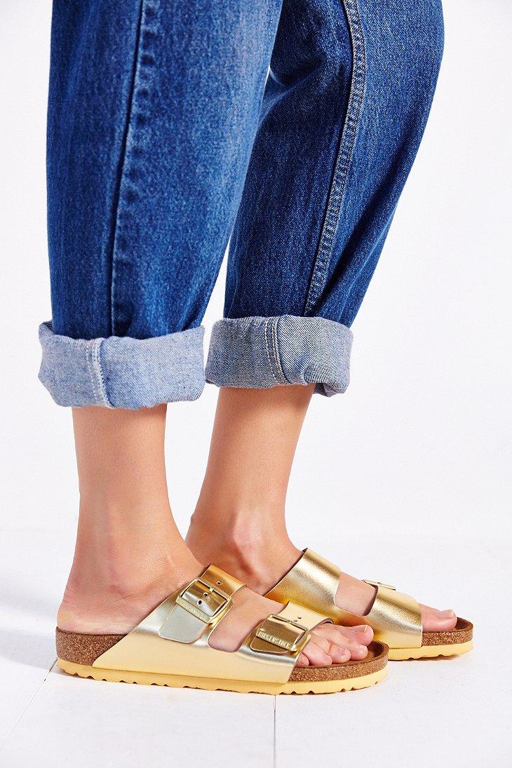 Soft Metallic Sandal Arizona In Footbed Gold Slide Birkenstock thCBoQsrdx