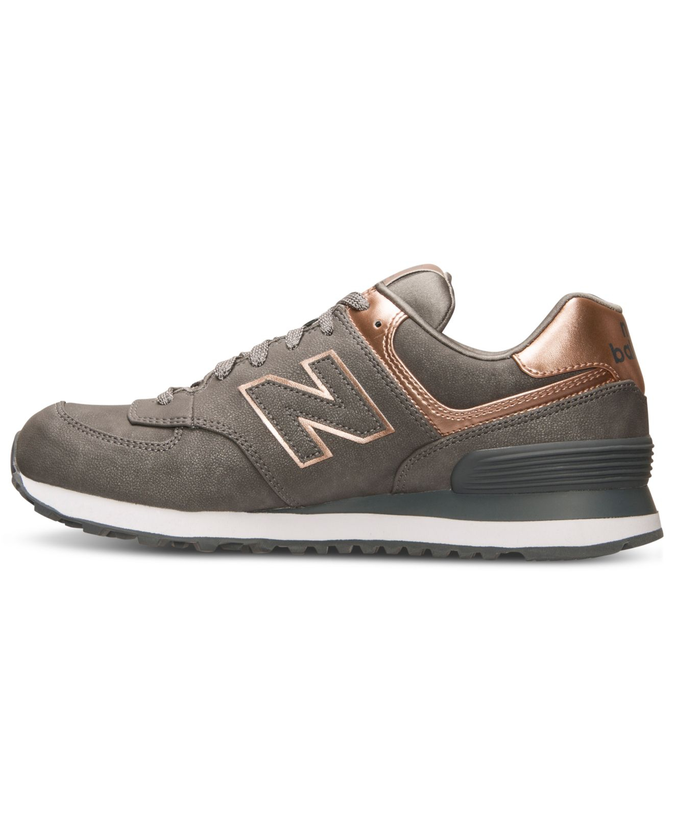 womens new balance 574 rose gold