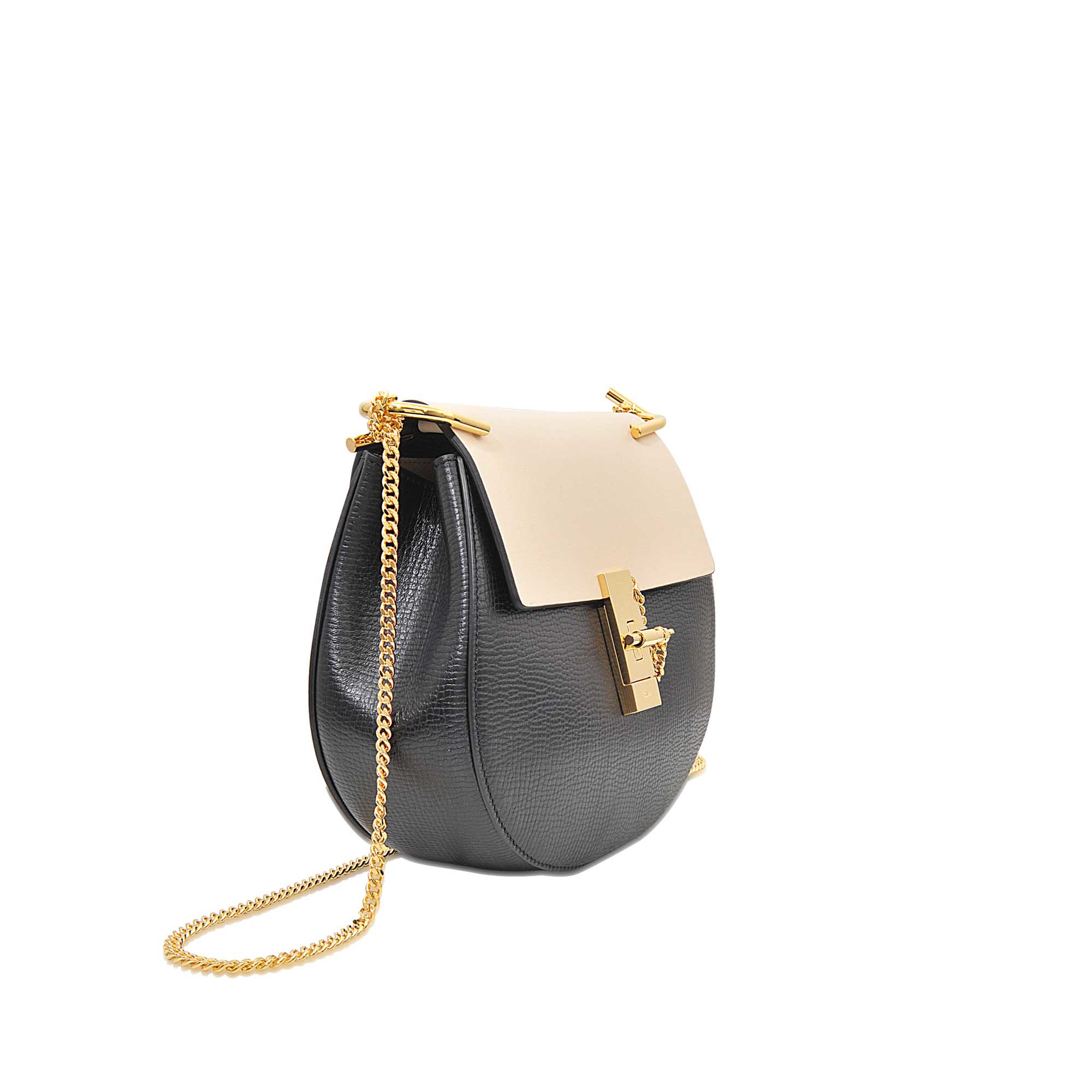 DREW BAG IN EMBROIDERED GRAINED GOATSKIN