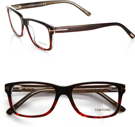 tom ford 5163 square optical frames in brown for