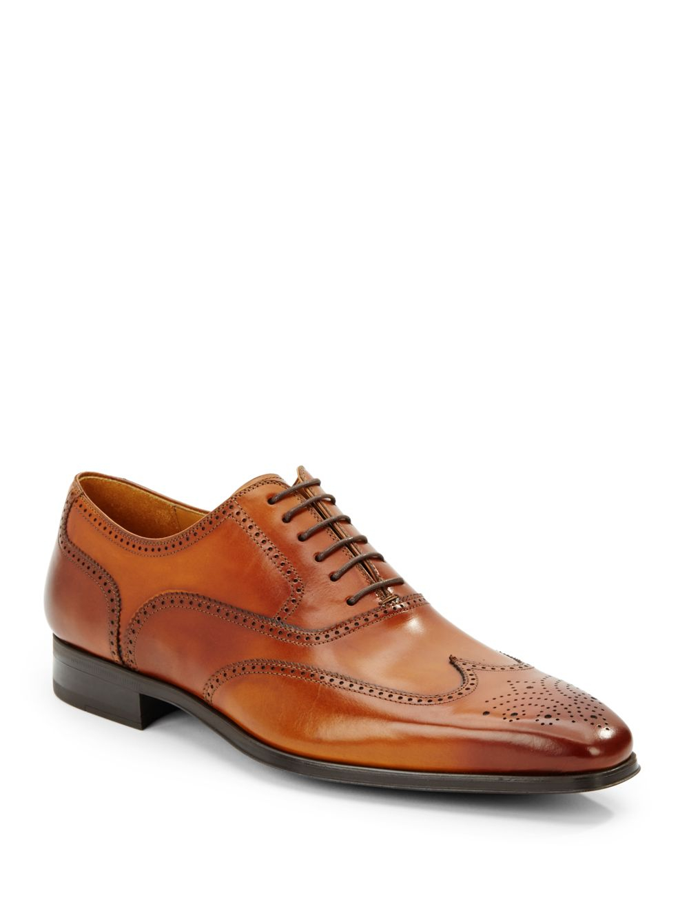 Red Leather Wingtip Shoes