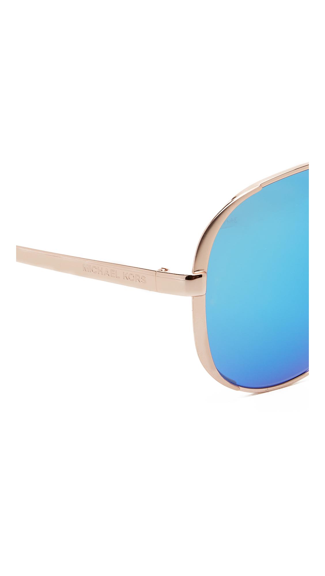 45eb381ffac0 49802 45b11; netherlands michael kors chelsea polarized sunglasses in metallic  lyst 2303f f0272