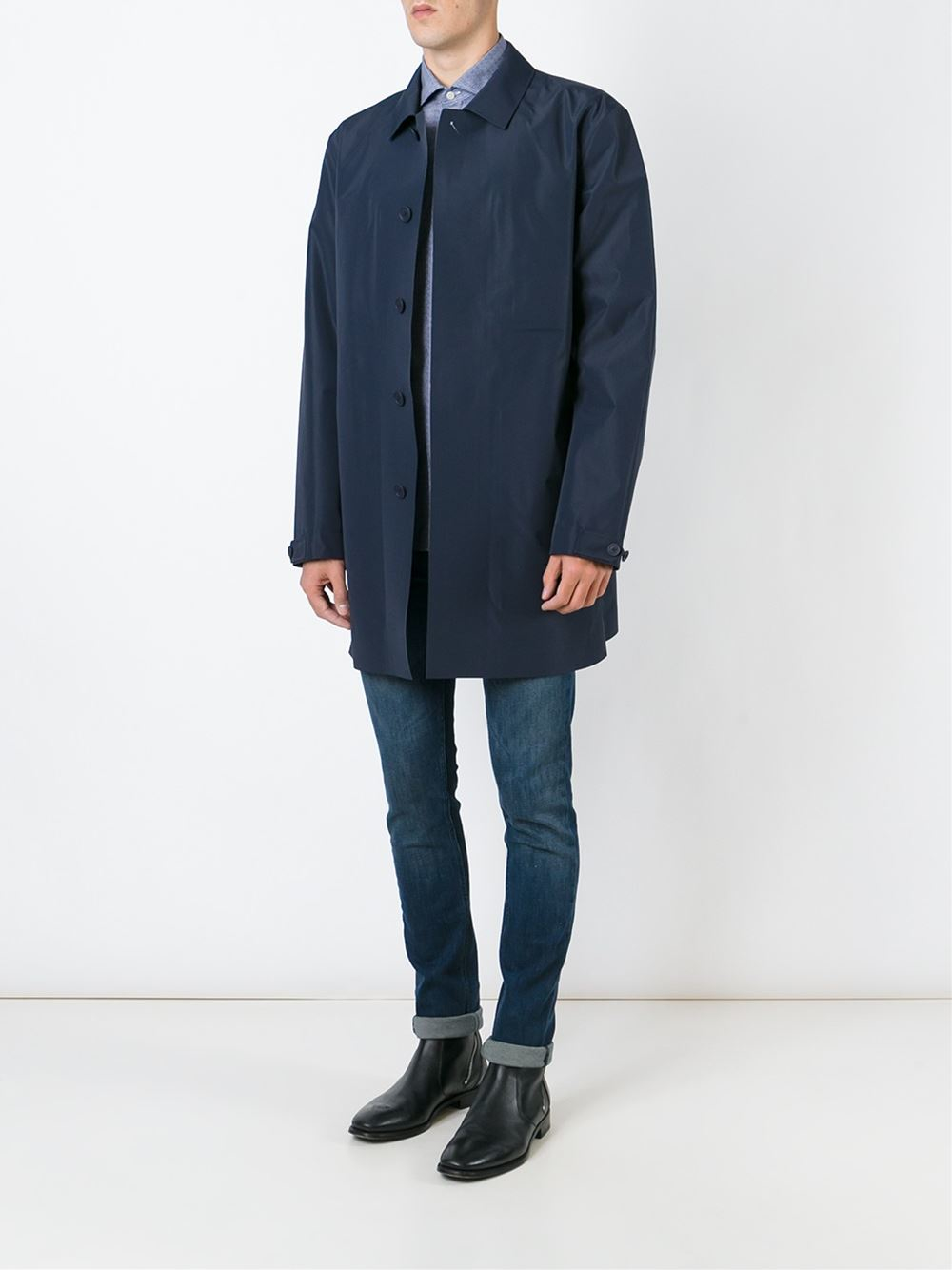 Z zegna Classic Raincoat in Blue for Men | Lyst