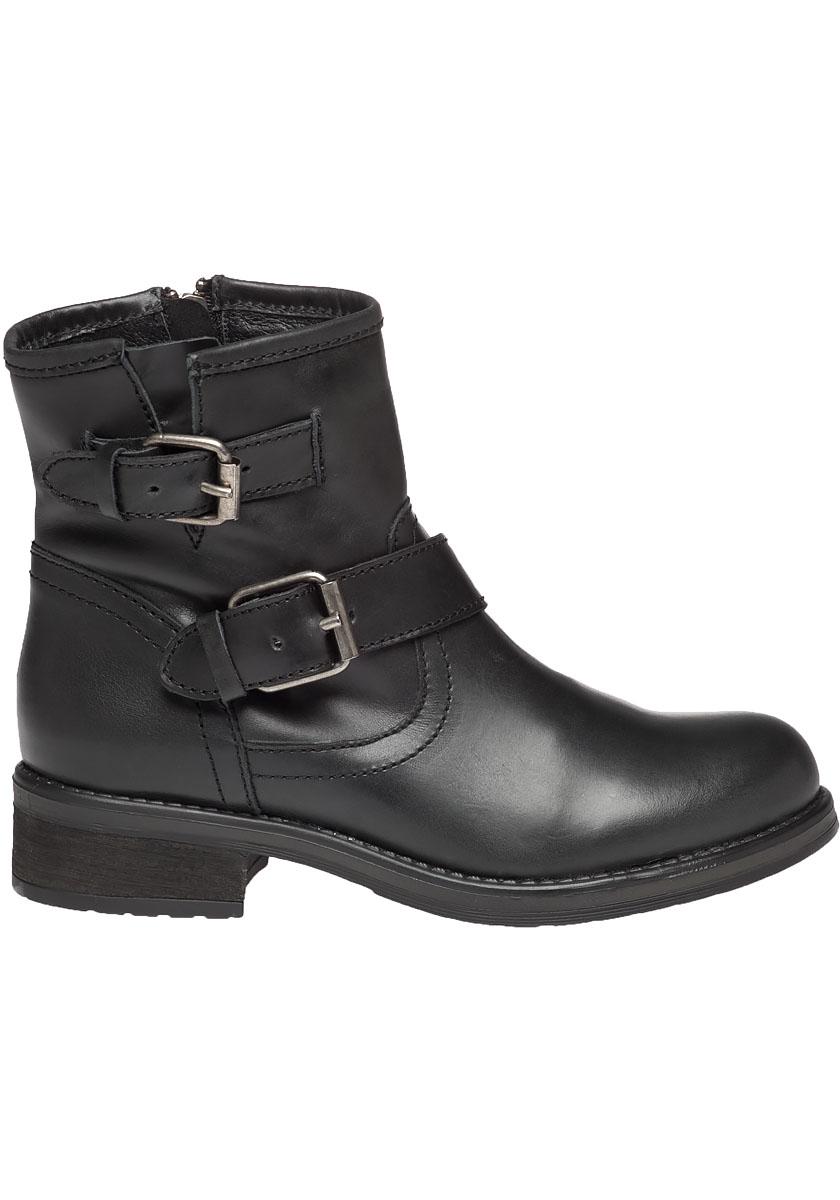 steve madden damiannn leather biker boots in black lyst