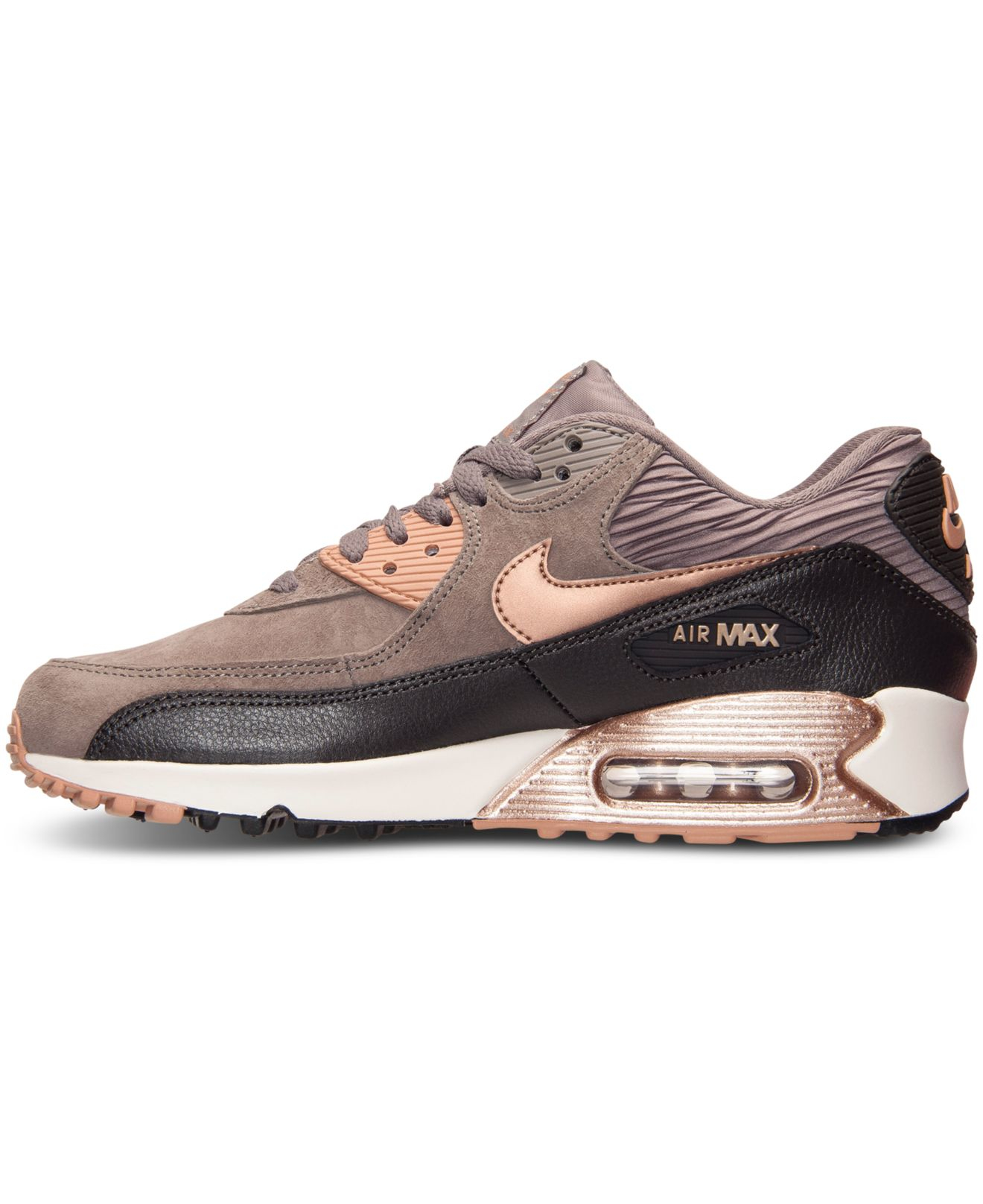 ecb96890f90de Nike Women's Air Max 90 Leather Running Sneakers From Finish Line in ...