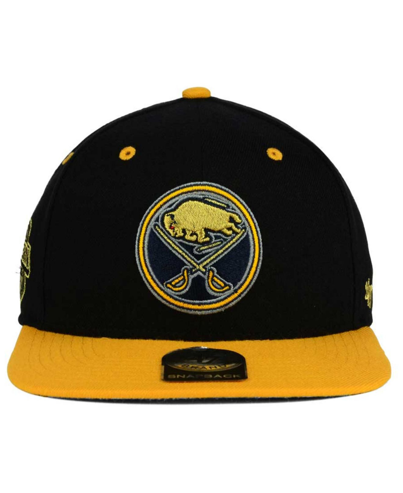 cheaper 95fa0 6123d Lyst - 47 Brand Buffalo Sabres Gold Rush Snapback Cap in Black for Men