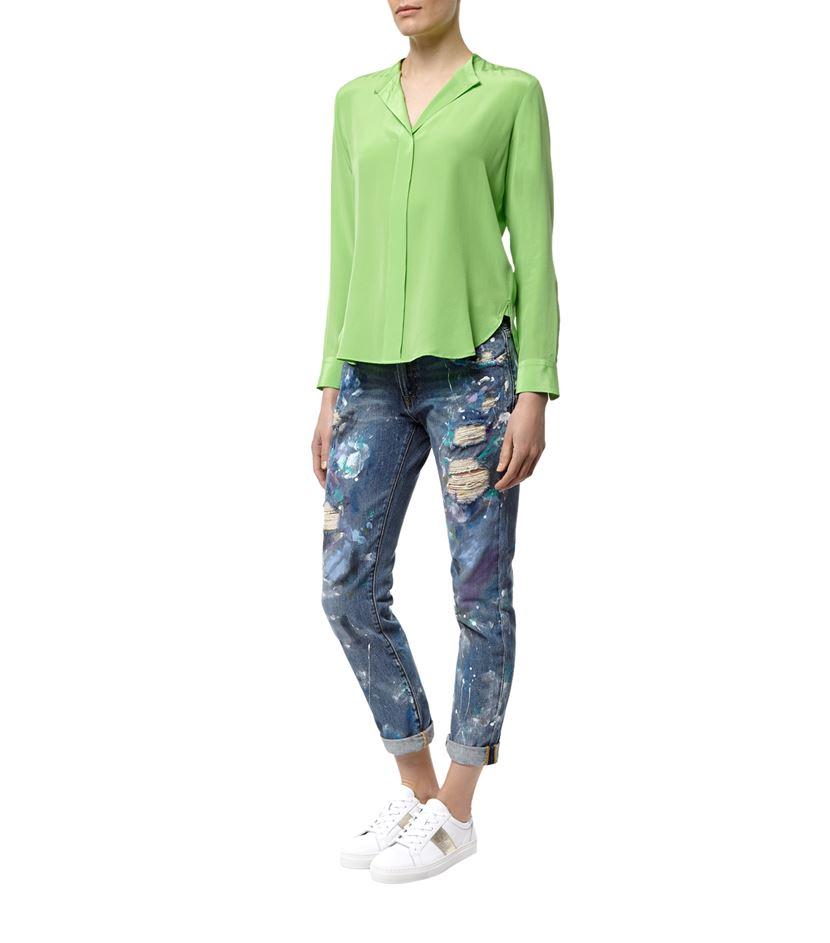 667a09a7 Polo Ralph Lauren Clarissa Silk Shirt in Green - Lyst