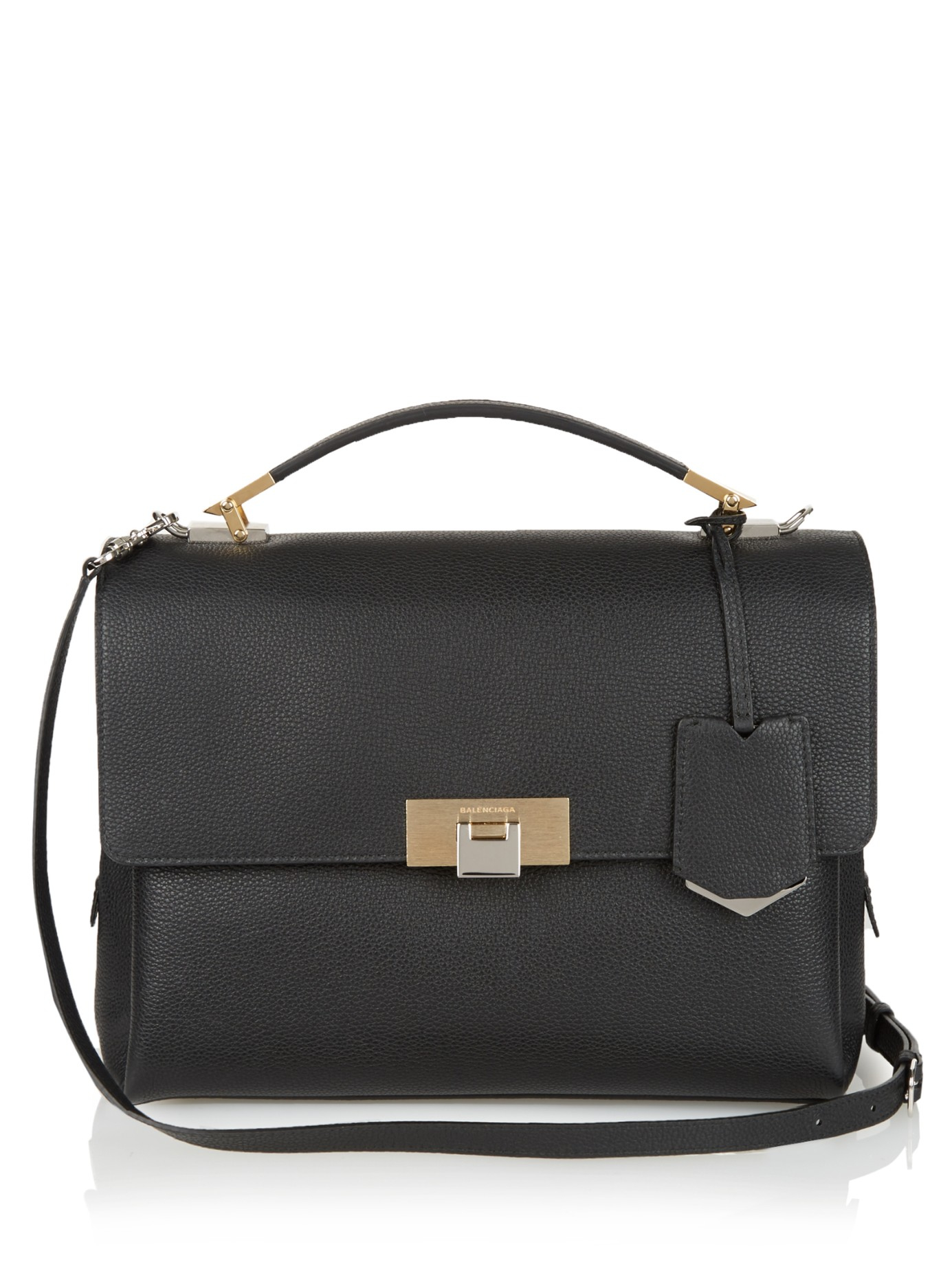 Balenciaga Le Dix Classic Soft Leather Shoulder Bag in Black | Lyst