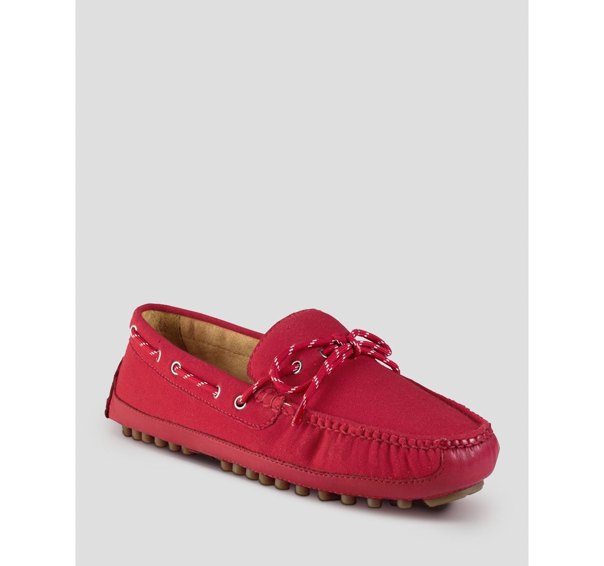 cfd2409ee261f Lyst - Cole Haan Grant Canoe Camp Canvas Moc Driving Loafers in Red ...