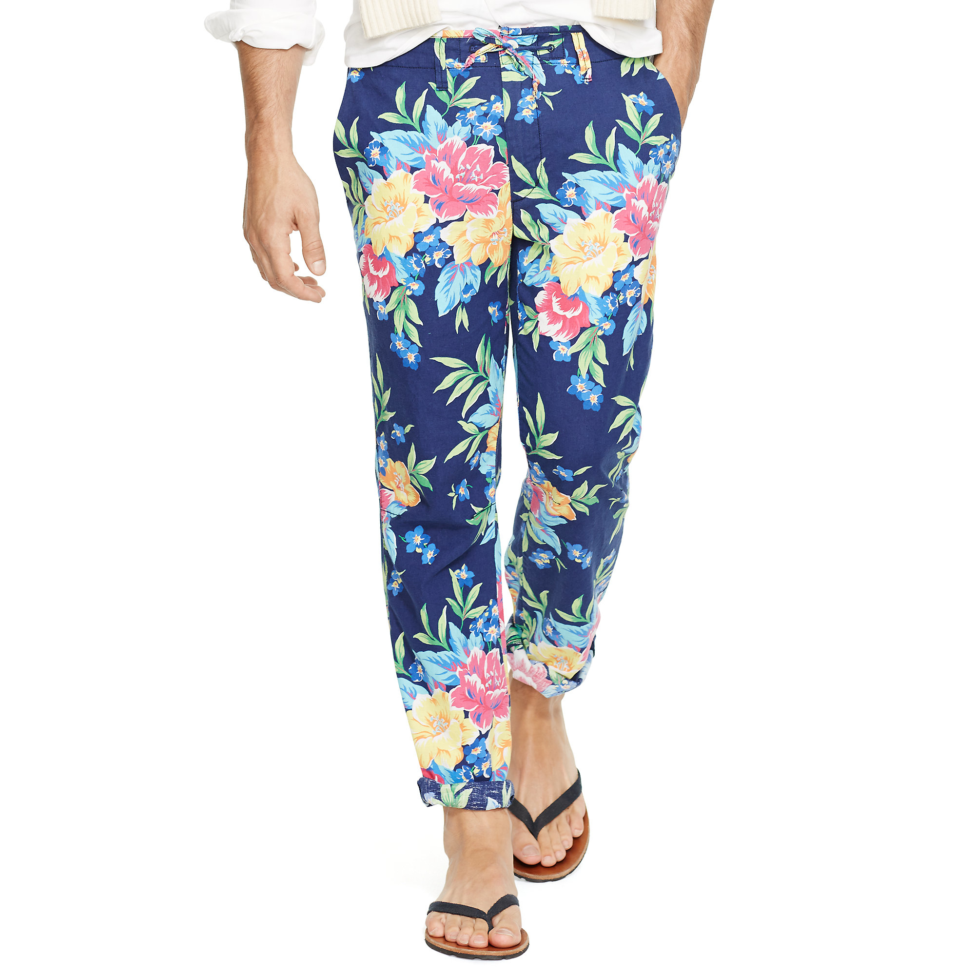 7687d1bca4ac Lyst - Polo Ralph Lauren Straight-fit Floral Pants in Blue for Men