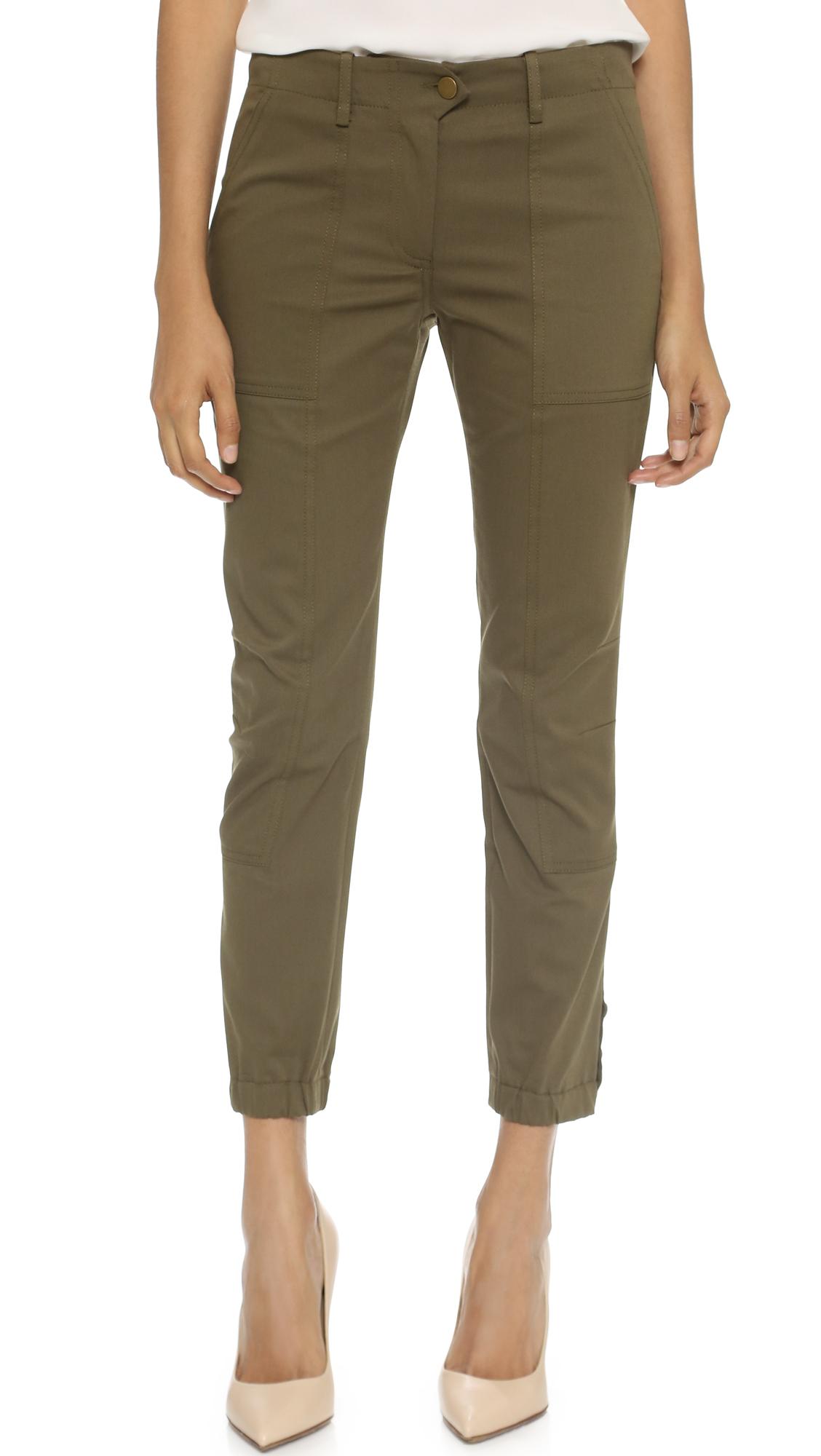 Amazing  Green Cargo Pants Leisure Army Fashion Women Army Green Pants
