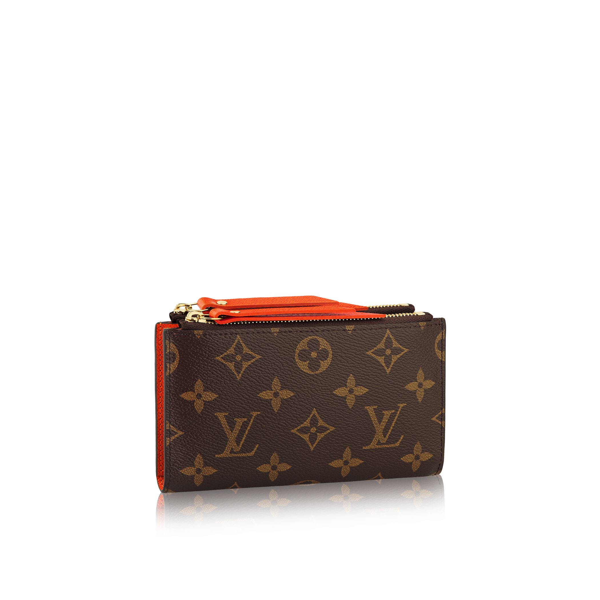 Louis vuitton Adele Compact Wallet in Brown | Lyst