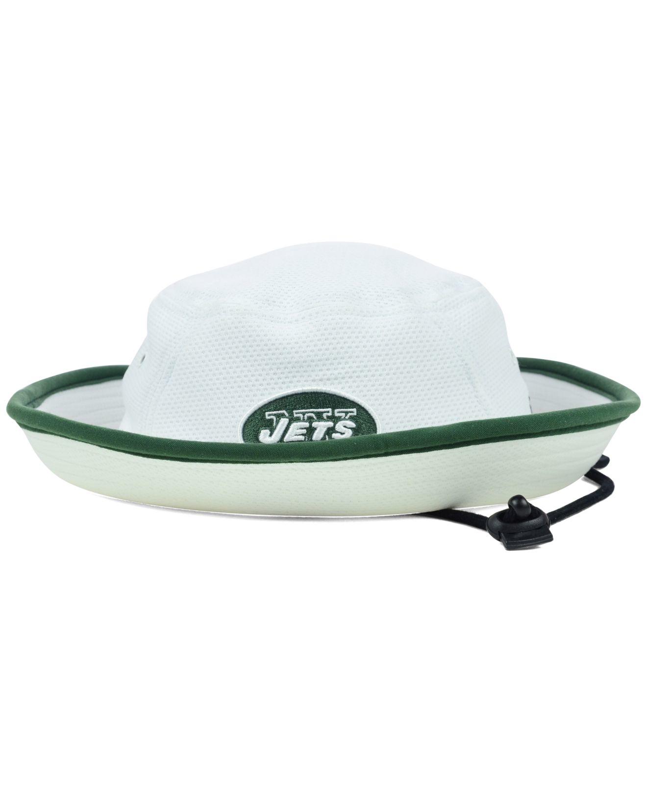Ktz New York Jets Training Camp Bucket Hat in White for Men | Lyst