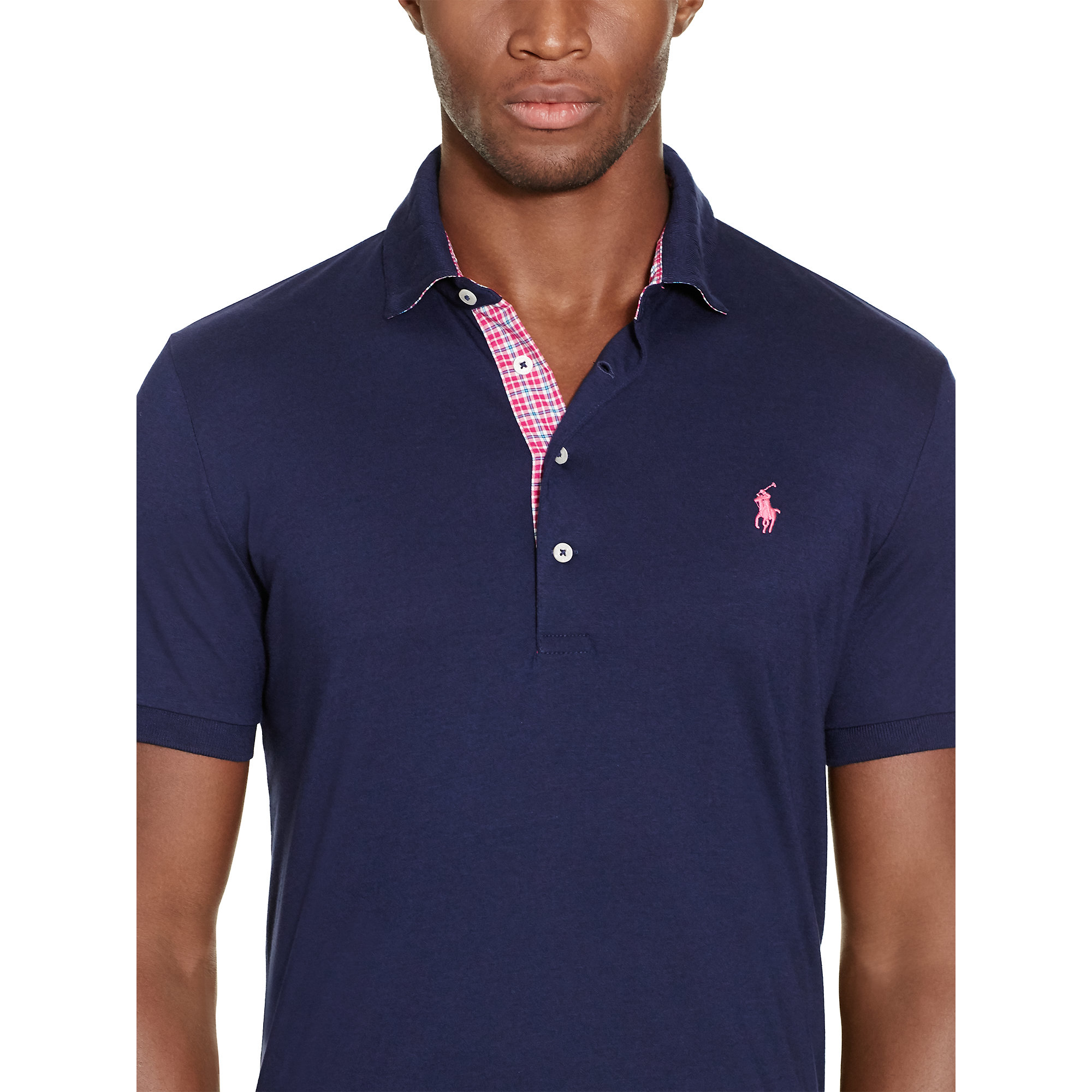 e2e8647ca78 ... best lyst pink pony custom fit lisle polo shirt in blue for men d2c64  6b299
