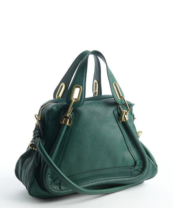 Chlo¨¦ Racing Green Leather Paraty Convertible Satchel Bag in Green ...