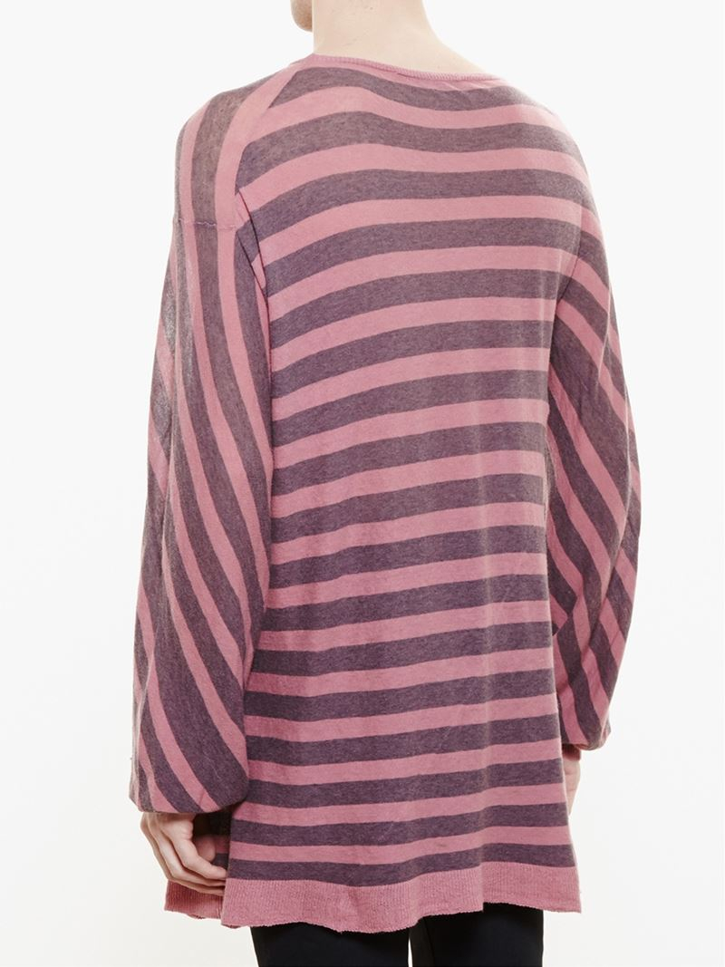 haider ackermann striped oversized jersey knit sweater for. Black Bedroom Furniture Sets. Home Design Ideas