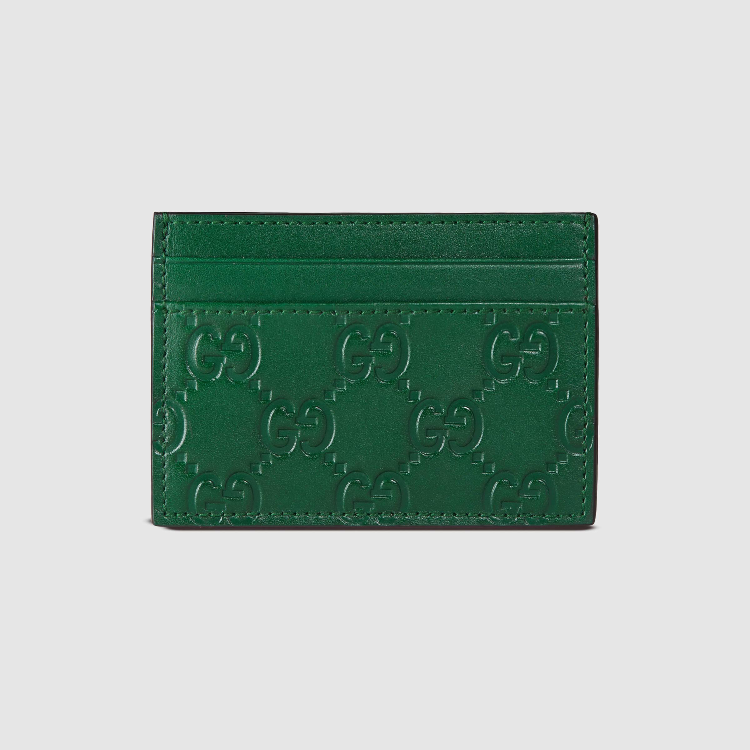 fd77a33cbace Gucci Signature Money Clip in Green for Men - Lyst