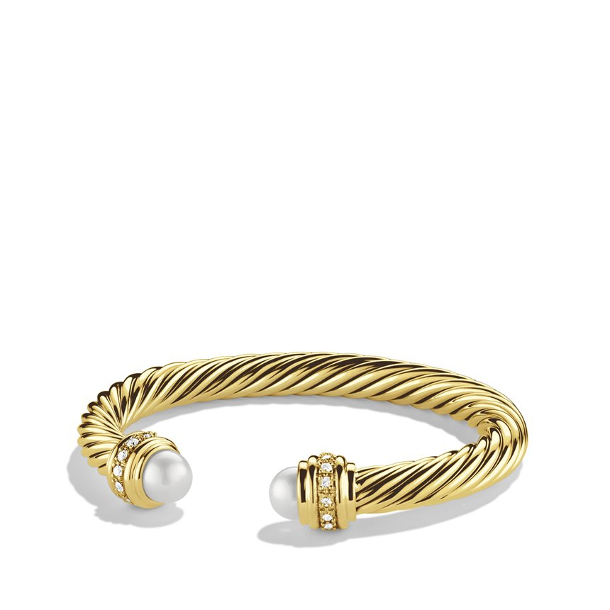 Lyst david yurman cable classics bracelet with pearls for David yurman inspired bracelet cable