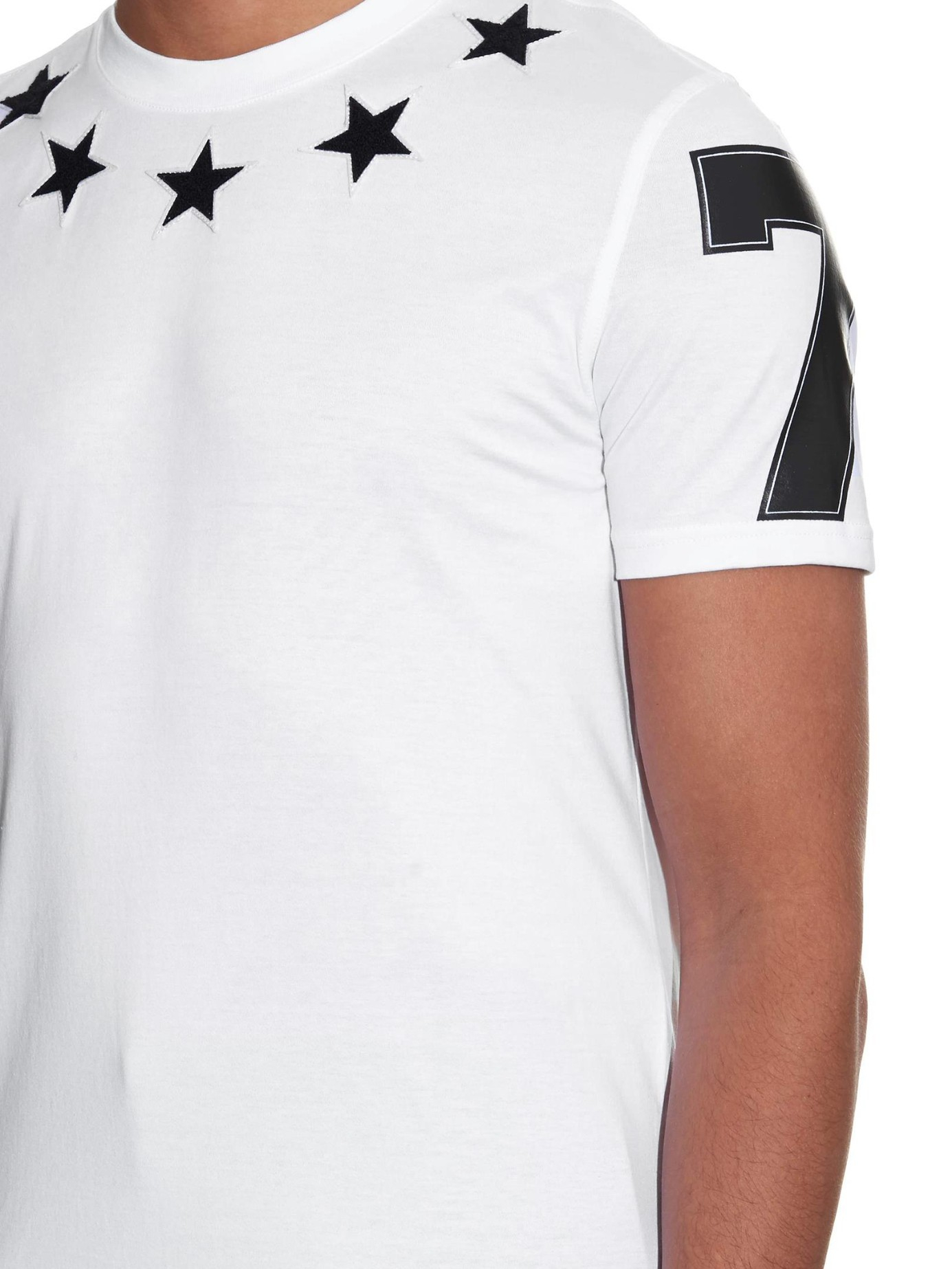 Lyst Givenchy Cuban Fit Fleece Stars T Shirt In White