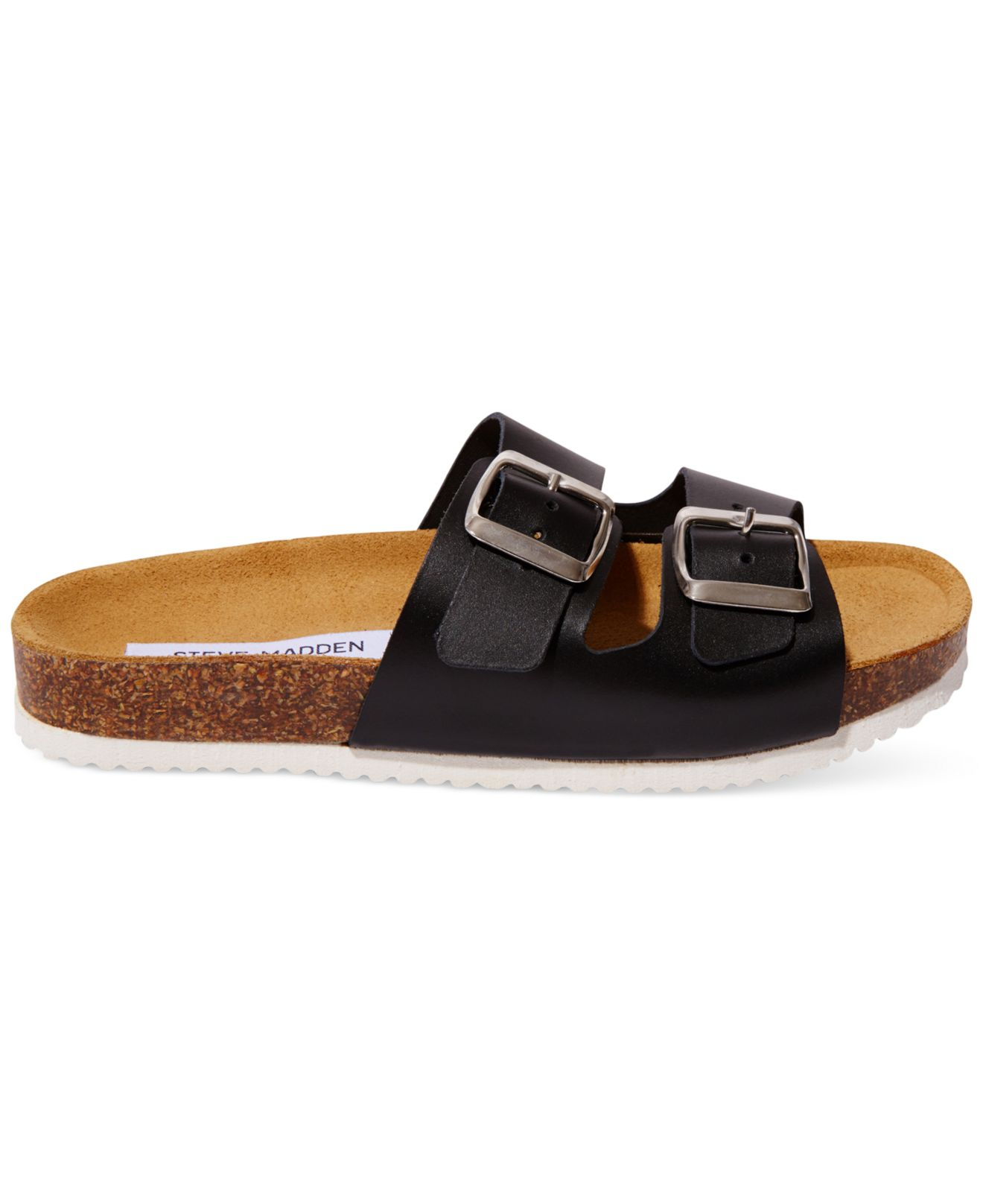 steve madden s bearfoot slide sport sandals in black