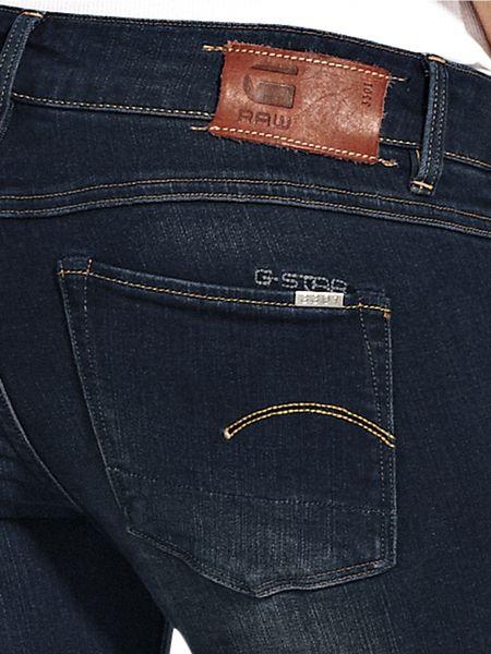 star raw gstar raw bootleg jeans in blue dark wash lyst. Black Bedroom Furniture Sets. Home Design Ideas