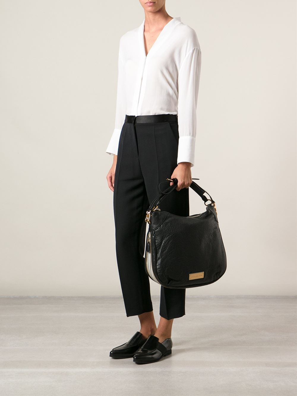 c1973d80a7 Marc By Marc Jacobs Washed Up Billy Hobo Bag in Black - Lyst