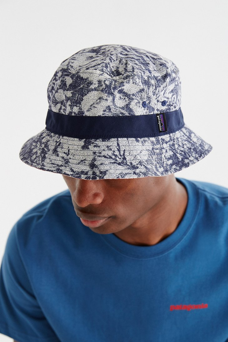 8595b1afb6c6a ... closeout lyst patagonia printed wavefarer bucket hat for men 0051b 4a9df